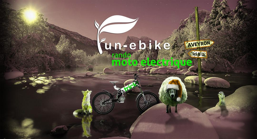 logo fun-ebike, randonnées motos éléctrique en Aveyron